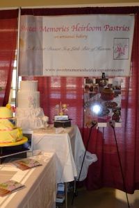 Sweet Memories booth at Bridalshowcase expo in the Patriot Center