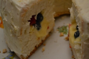 Filled Angel Cake